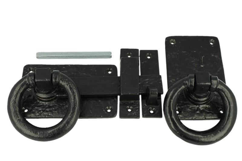 Poortslot ring zwart
