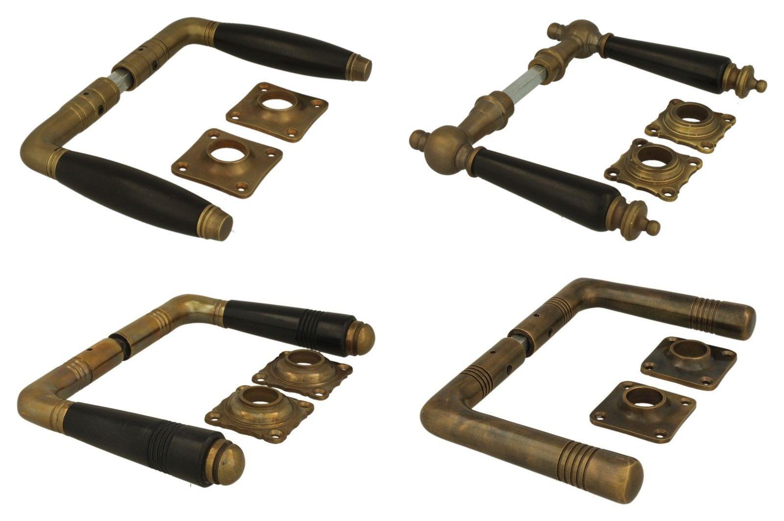 deurklinken in brons